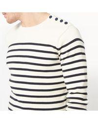 LA REDOUTE - Blue Organic Cotton Breton Jumper/sweater for Men - Lyst