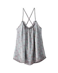 LA REDOUTE - Multicolor Vest Top With Crossover Back And Shoestring Straps - Lyst