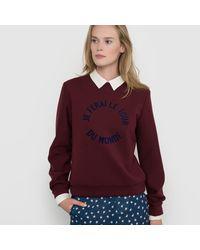 LA REDOUTE - Red Made In France Slogan Sweatshirt - Lyst