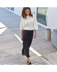 LA REDOUTE - Multicolor Silk Style Ruffled Midi Skirt - Lyst
