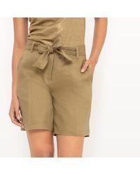 LA REDOUTE | Natural Long Linen Shorts | Lyst