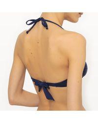 LA REDOUTE - Blue Bikini Top With Details - Lyst