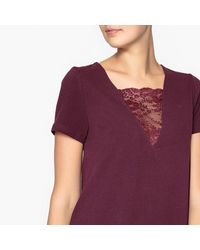 LA REDOUTE - Purple Nightshirt With Lace Detail - Lyst