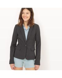 LA REDOUTE - Gray Tailored Blazer, Length 60cm - Lyst