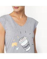 LA REDOUTE - Gray Printed Top Pyjama Set - Lyst