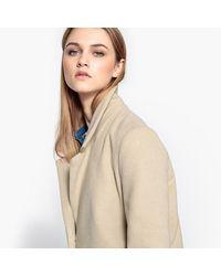 Pepe Jeans - Natural Wool Blend Mid-season Long Coat - Lyst