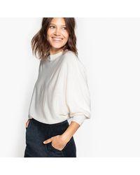 LA REDOUTE - White Cotton Mix Batsleeve Jumper/sweater - Lyst