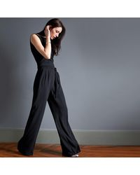 LA REDOUTE - Black Sleeveless Jumpsuit - Lyst