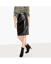 LA REDOUTE - Black Vinyl Pencil Skirt - Lyst