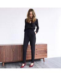 LA REDOUTE - Blue Slim Fit Jumpsuit With Cigarette Trousers - Lyst