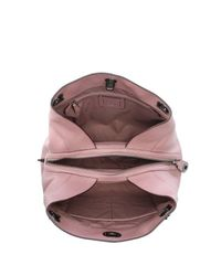 COACH - Pink Turnlock Edie Dusty Rose Polished Pebbled Leather Shoulder Bag - Lyst