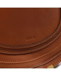 Chloé - Brown Chloe Marcie Tan Leather Medium Saddle Bag - Lyst