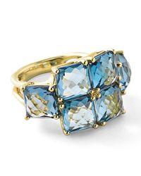 Ippolita - Rock Candy® 18k Square Blue Topaz Six-stone Ring - Lyst