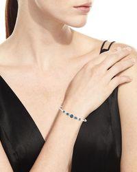 Ippolita - Black Stella Sterling Silver 10-doublet Bangle In Hematite & Diamonds - Lyst