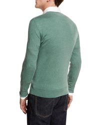 Neiman Marcus - Green Cashmere-silk V-neck Sweater for Men - Lyst