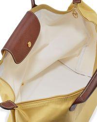 Longchamp - Yellow Le Pliage Large Shoulder Tote Bag - Lyst