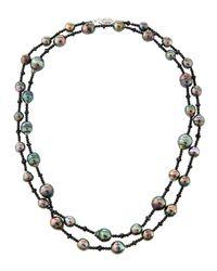 Belpearl - Multicolor 14k Long Tahitian Pearl & Spinel Necklace - Lyst
