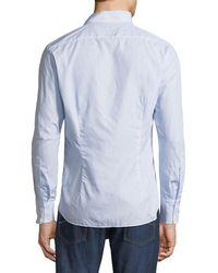 Brunello Cucinelli - Blue Men's Italian-fit Striped Sport Shirt for Men - Lyst