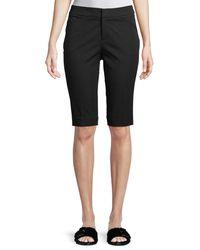 "Neiman Marcus - Black 13"" Stretch-cotton Walking Shorts - Lyst"