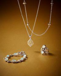 Konstantino - Blue Amphitrite Cushion Agate & Pearl Statement Ring - Lyst