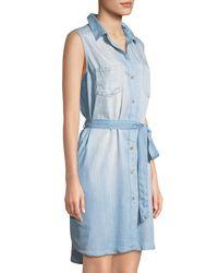 Velvet Heart - Blue Rosa Chambray Sleeveless Shirtdress - Lyst