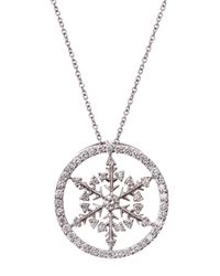Roberto Coin - Metallic Diamond Pave Snowflake Pendant Necklace - Lyst