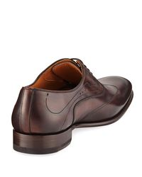 Neiman Marcus - Brown Toledo Wing-tip Leather Oxford for Men - Lyst