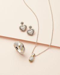 Lagos - Metallic Small Diamond Heart Caviar Dangle Earrings - Lyst