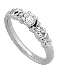 Dior - Metallic Estate Platinum Diamond Ring - Lyst