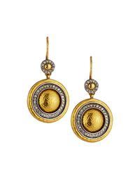 Gurhan | Metallic Moonlight Diamond Halo Dangle Earrings | Lyst