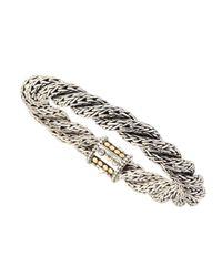 John Hardy - Metallic Triple-twist Gold Dot Chain Bracelet - Lyst