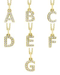 KC Designs - Purple 14k Yellow Gold Diamond Initial & Chain - Lyst