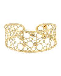 Roberto Coin - Metallic Bollicine Diamond & 18k Yellow Gold Medium Cuff Bracelet - Lyst