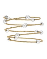 Alor | Metallic Pearl Spiral Cable Wrap Bangle | Lyst