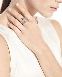 Armenta - Metallic New World Twisted Ring W/ Champagne Diamonds - Lyst