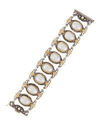 Konstantino - White Silver & 18k Australian Mabe Pearl Link Bracelet - Lyst