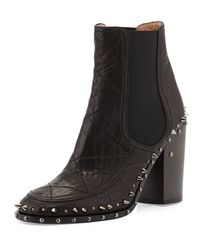 Laurence Dacade | Black Flynn Studded Gored Ankle Boot | Lyst