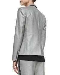 Rag & Bone - Gray Alpine Wool-blend Blazer With Zip Pockets - Lyst