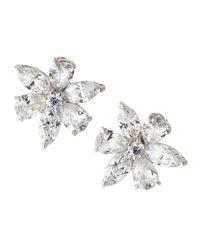 Fantasia by Deserio | Multicolor Cz Flower Cluster Earrings | Lyst