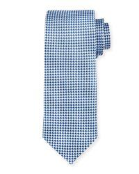 Neiman Marcus - Blue Check Silk Tie for Men - Lyst