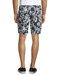 Original Penguin - Multicolor Hawaiian-print Straight-leg Shorts for Men - Lyst