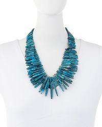 Nest - Blue Jasper Spike Beaded Necklace - Lyst