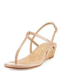 Splendid - Natural Edgewood Patent Wedge Sandal - Lyst