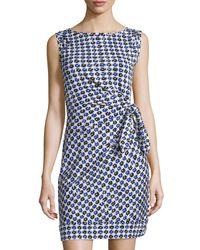 Diane von Furstenberg - Multicolor New Della Gathered Sleeveless Dress - Lyst