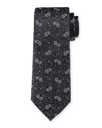 Robert Graham - Black Swan Paisley Silk Tie for Men - Lyst