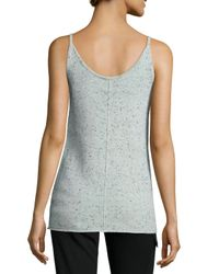 ATM - Gray Donegal Speckled Cashmere Knit Camisole - Lyst