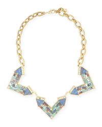 Lulu Frost | Metallic Petra Mosaic Statement Necklace | Lyst