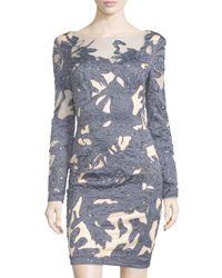 Mandalay - Blue Embellished Long-sleeve Cocktail Dress - Lyst