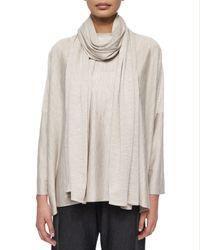 Eskandar - Natural Jersey Knit Long Scarf - Lyst