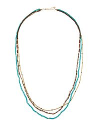 Nakamol | Multicolor Long Triple-strand Beaded Stone Necklace | Lyst